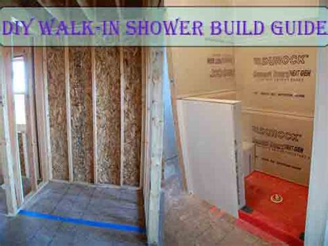diy walk in shower build guide
