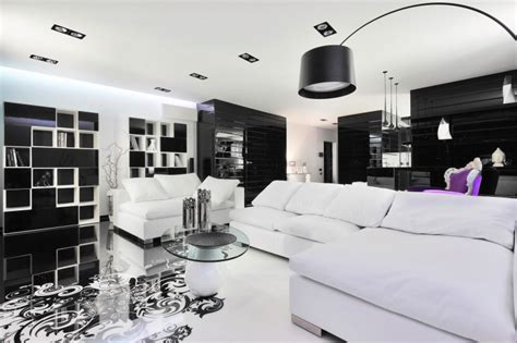 White Black Room by Black And White Living Rooms Design Ideas