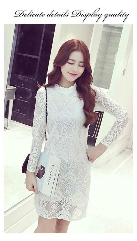 dress simple wanita lengan panjang dress lengan panjang brokat cantik simple toko baju