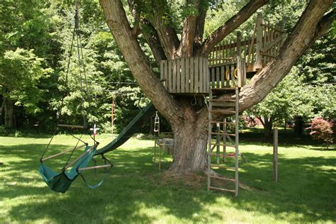 Tree House Backyard by Diy Backyard Playgrounds Buyswings