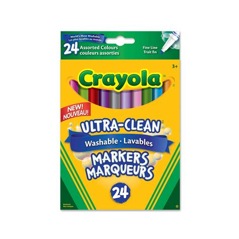 Crayola Ultra Clean Washable Markers Color Max 12 Fineline line ultra clean washable markers 24 ct crayola store