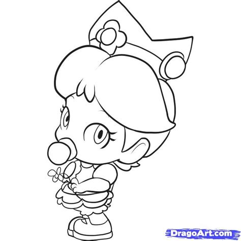 coloring pages of daisy from mario mario bros drawing az coloring pages