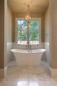 Freestanding Tub In Alcove Tub In Alcove Transitional Bathroom