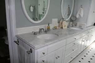 white marble countertop globe bath kitchen