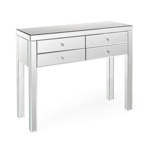 Mirror Console Table High Legs Small Mirrored Entry Console Table With 4 Drawer Ideas