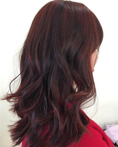 red and dark brown hairstyles 45 shades of burgundy hair dark burgundy maroon