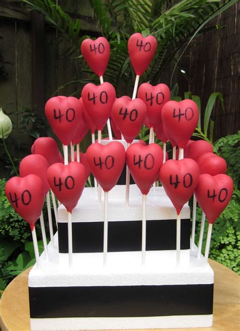 happy 40th wedding anniversary www thecakepopbakery au cake pops best 40th