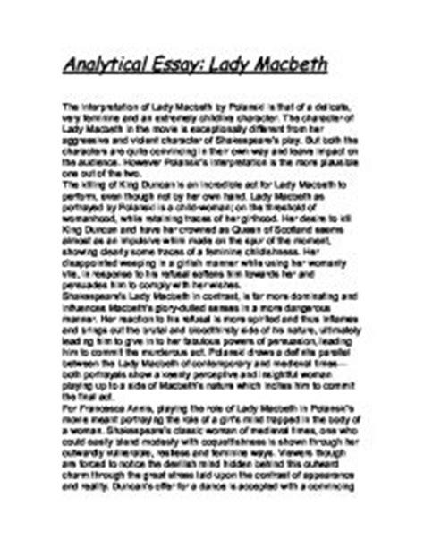 Macbeth Critical Essay by Macbeth Essays