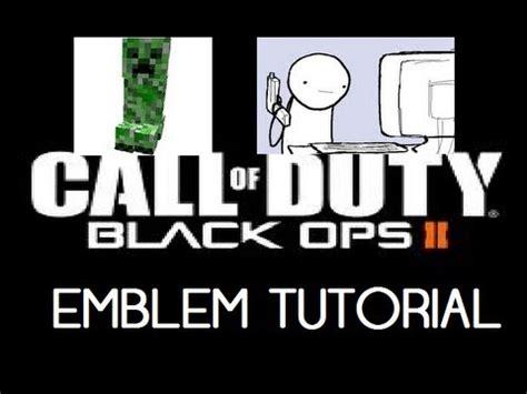 Black Ops Memes - black ops 2 emblem tutorial minecraft creeper gun meme