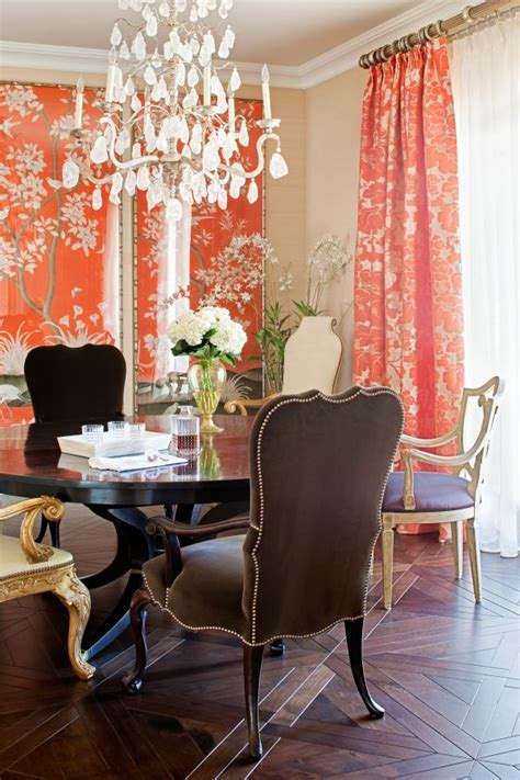 Beautiful Dining Room Curtains Decorating With Coral Ideas Inspiration