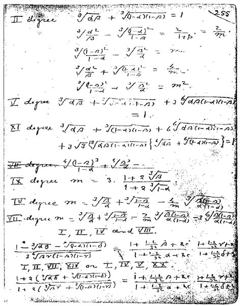 Srinivasa Ramanujan Essay by This Page 255 From Ramanujan S Second Notebookis Representative Of His Work On Modular
