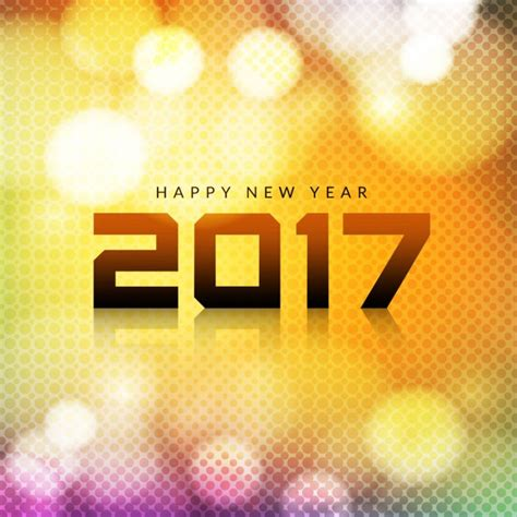 new year photo effect 2017 new year bright background with bokeh effect vector
