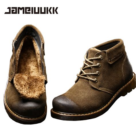 comfortable winter shoes 2016 fashion warm genuine leather boots comfortable men