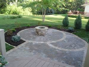Circular Patio Pavers Circular Paver Patio Patio Minneapolis By Barrett Lawn Care