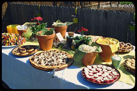 This Party Calls For A Theme Spring Garden Party Green Garden Menu Ideas