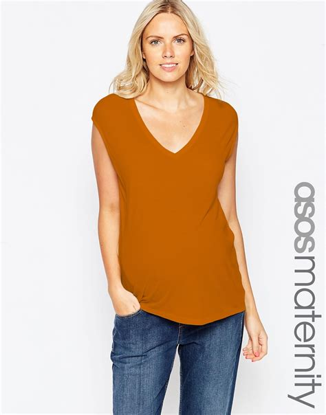 Slouchy Tank Tops by Asos Maternity Slouchy Tank Top In Rib With V Neck In