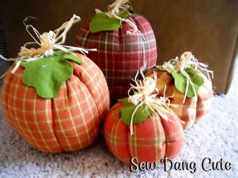 fabric crafts fall fabric pumpkins tutorial autumn fall and thanksgiving