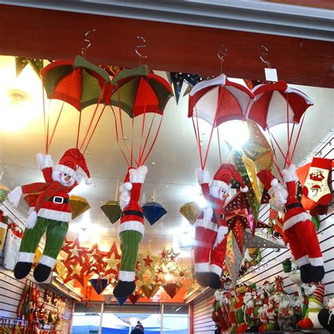 christmas ceiling fan decorating ideas home ceiling decorations parachute 24cm santa claus smowman new year hanging pendant