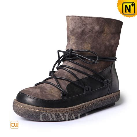 Winter Vintage Boots vintage winter leather snow boots cw305565