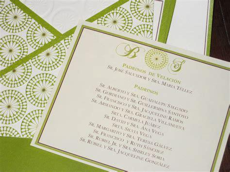 registry information on wedding invitations brides green and brown wedding invitation kit juarez garcia