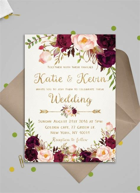 Top 10 Wedding Invitations We Love from ETSY for 2018