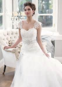 lovely wedding dresses sweetheart wedding dress with detachable lace cap sleeves