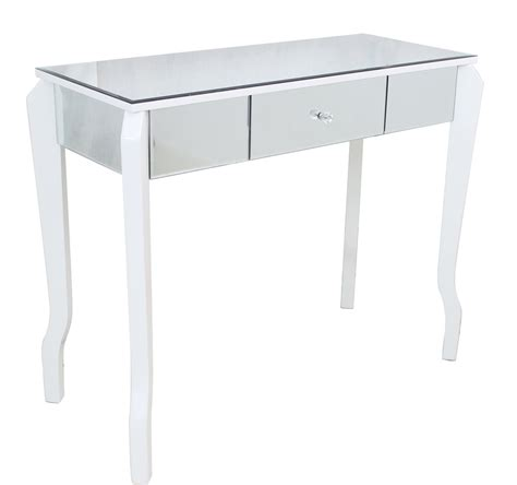 white dressing table mirror mirrored dressing table with white wooden legs chic