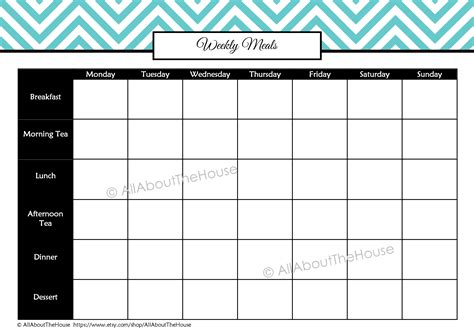 blank meal planner templates awesome blank menu planner template gallery resume ideas