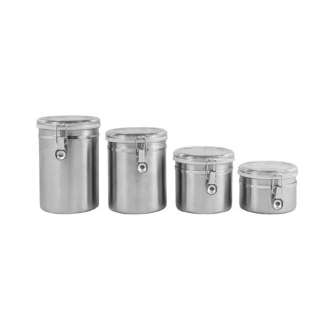 4 piece stainless steel kitchen storage canister set flour ragalta 4 piece stainless steel canister set rca045 the
