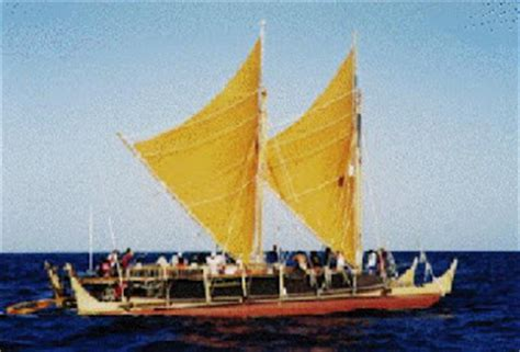 hawaiian boat indigenous boats the hawaiian double canoe hokule a