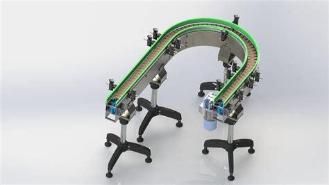 table top chain conveyor table top chain curve conveyor 3d cad model library