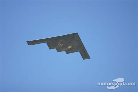 Haruka Bomber Ferary Series stealth bomber flyover at ii