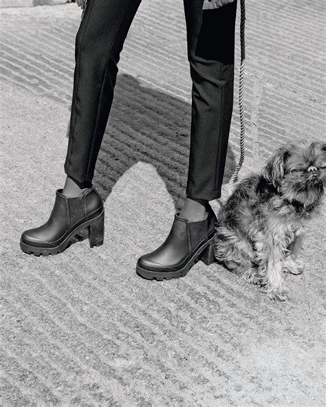 high heel rubber boots original high heel rubber boot in black lyst