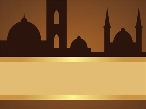 Mosques Powerpoint Templates Brown Religious Free Ppt Backgrounds Islamic Powerpoint Templates