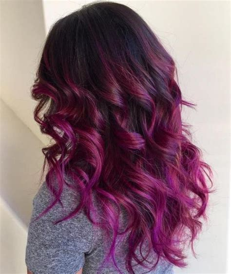 burgundy ombre medium length hair purple ombre hair ideas plum lilac lavender and violet