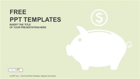 powerpoint templates money piggy money box powerpoint templates