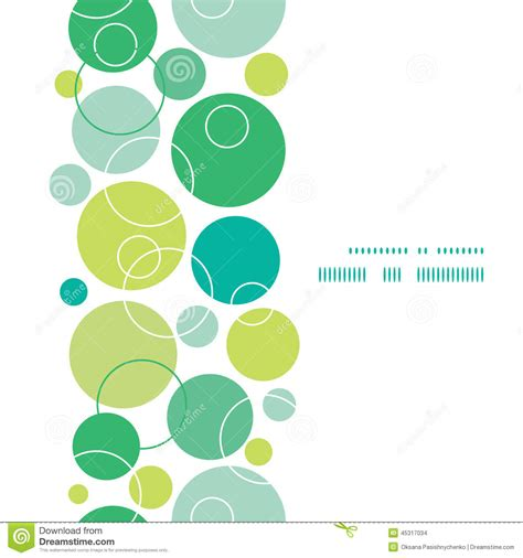 vertical layout web design vector abstract green circles vertical frame stock vector