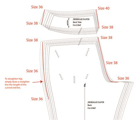 sewing pattern theory how to grade between sizes when sewing a pair of men s