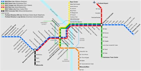 trimet max map portland max map my