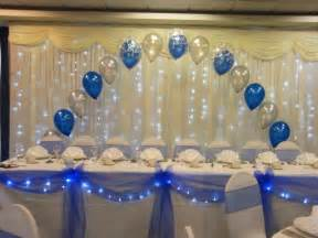 make a beautiful head table with swags and bows with