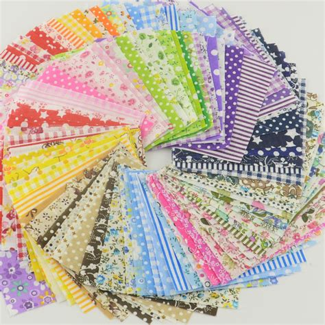 Patchwork Design Fabric - 30pcs charming quilting patchwork fabric bundle 3 9x3 9in