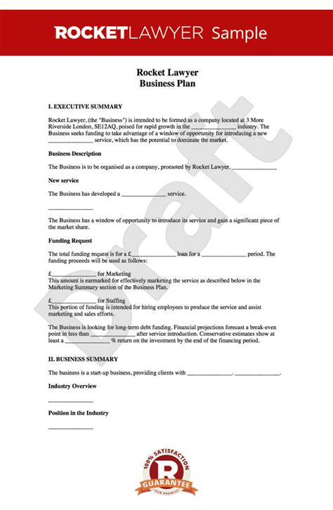 business plan template free how to write a business plan