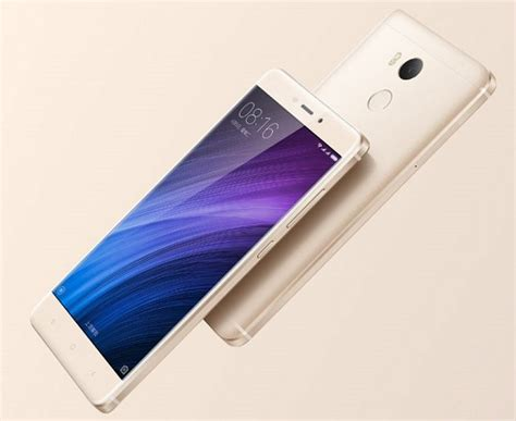 Fingerprint Xiaomi Redmi 4 Xiaomi Redmi 4 With 5 Inch Display And Fingerprint Scanner