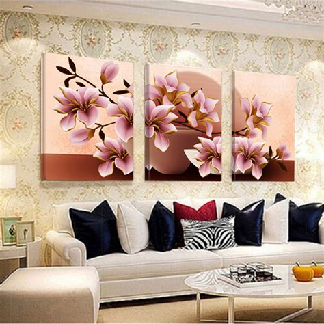no frame orchid wall painting flower canvas painting home