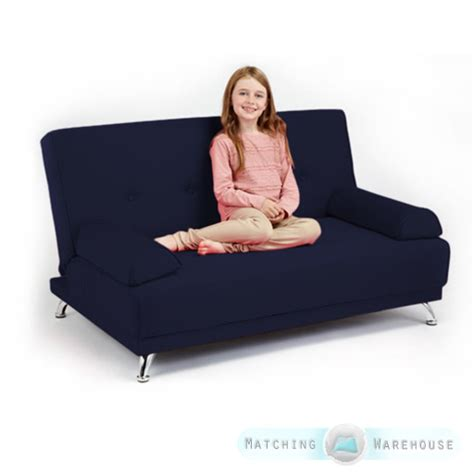 Kid Futons by Childrens Cotton Twill Clic Clac Sofa Bed With Armrests