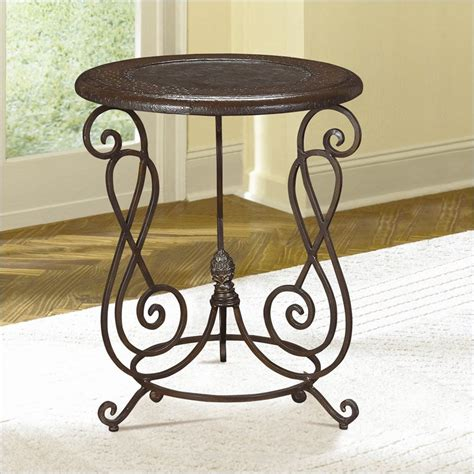 metal round accent table hammary hidden treasures round metal accent end table ebay