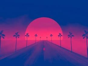 retrowave sunset  wallpapers wallpapers hd