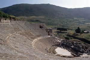 This is the greek theatre at ephesus now in turkey notice the bowl
