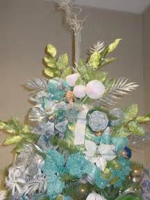 tree themes blue and green decorated christmas tree christmas theme