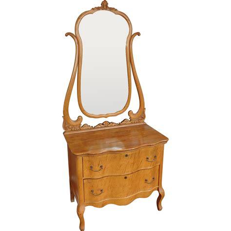 Antique Princess Dresser by Antique Late Birds Eye Maple 2 Drawer Princess